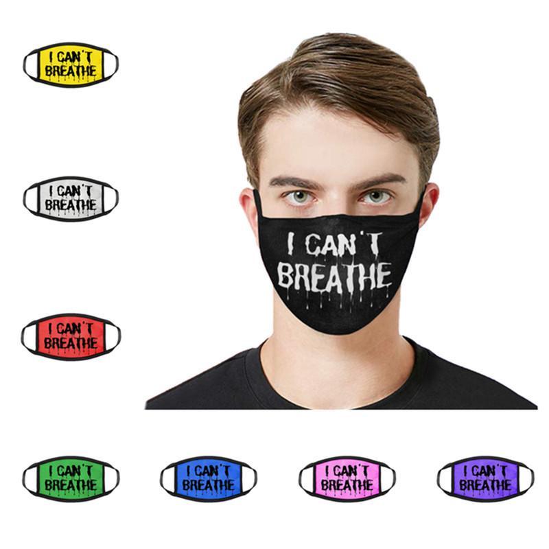 Fashion Designer Maschere viso non riesco a respirare Letter Stampa Maschere Donna Uomo antipolvere protettivo lavabile traspirante viso maschere di vendita migliori