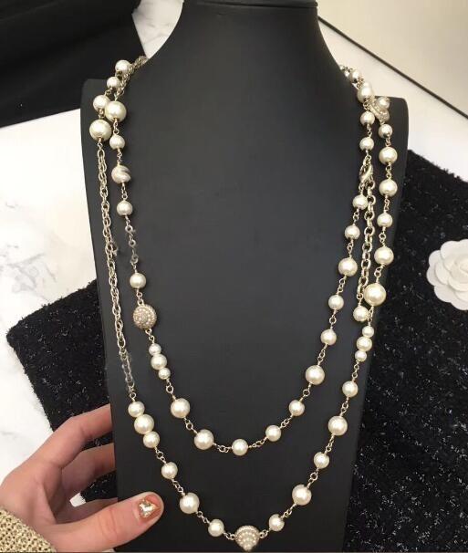 새로운 스타일의 진주 목걸이 시리즈 비드 롱 선물 패션 목걸이에 대한 여성의 웨딩 쥬얼리 목걸이