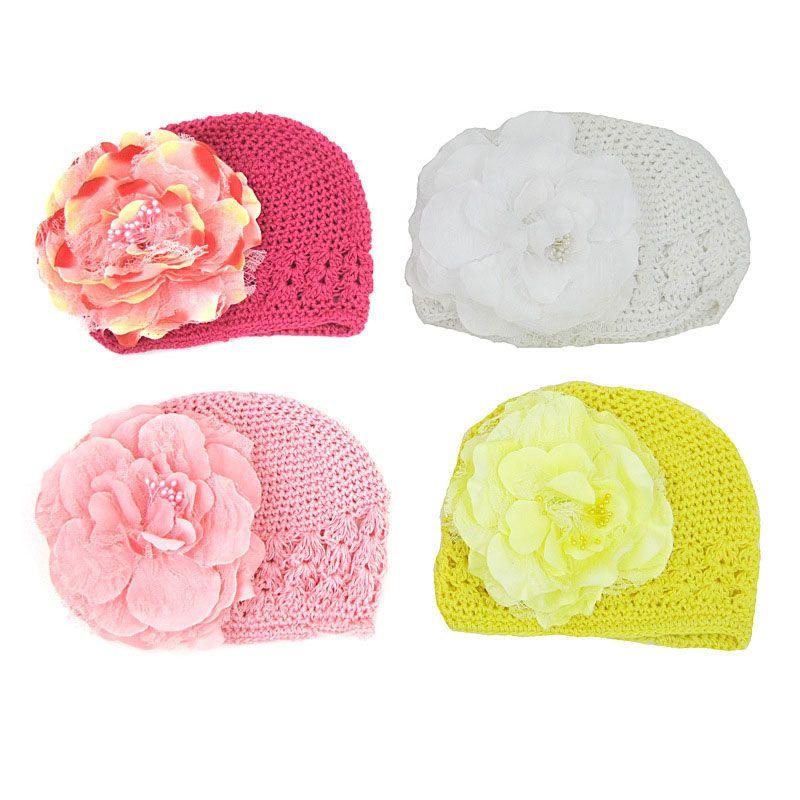 La neonata infantile di modo della neonata dei bambini scava fuori la protezione dei bambini tricottata maglia dei cappelli delle cappelli Trasporto libero