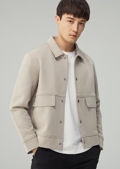 Primavera 2020 nuovo stile utensili giacca bavero uomini giacca corta monopetto