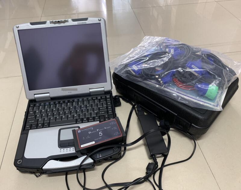 Ferramenta de diagnóstico Dearborn Protocolo adapter5 Scanner de caminhão resistente DPA5 sem Bluetooth com laptop CF30 Touch PC