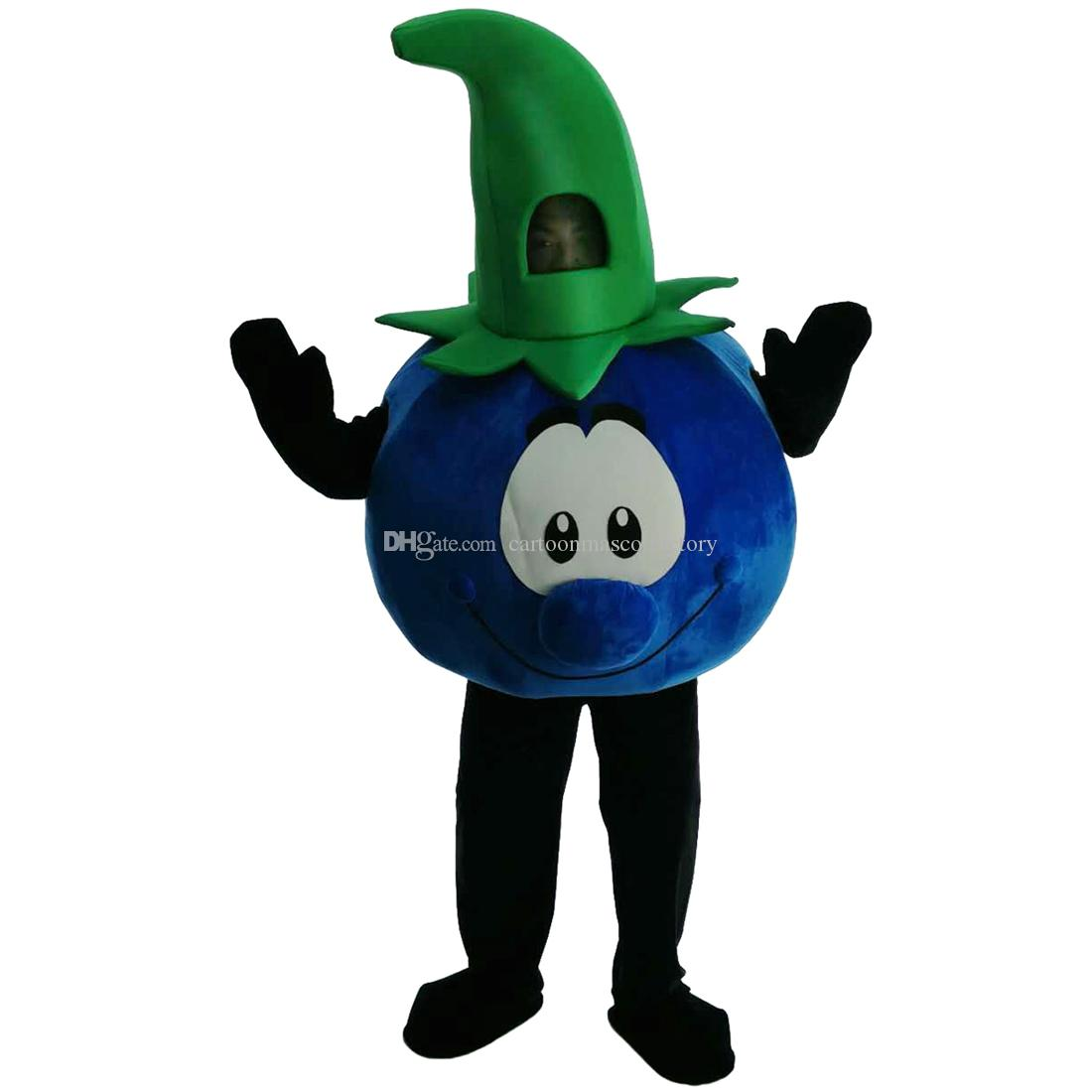 Blueberries, Mr. Mascot Costumes Cartoon Character Adult Sz 100% Real Picture 068