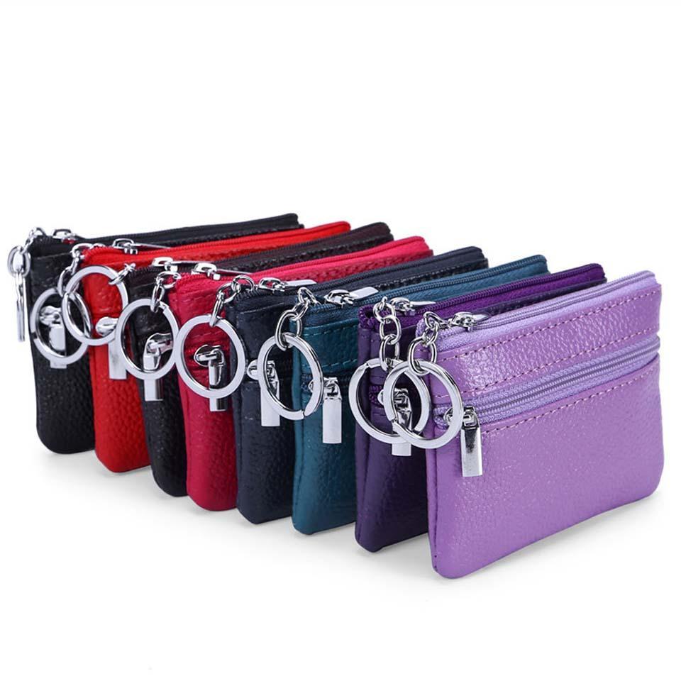 Женщины Урожай Кожезаменитель Леди кошелек сцепления Мода Короткие Малый Портмоне Новая мягкая Твердая Square Bag