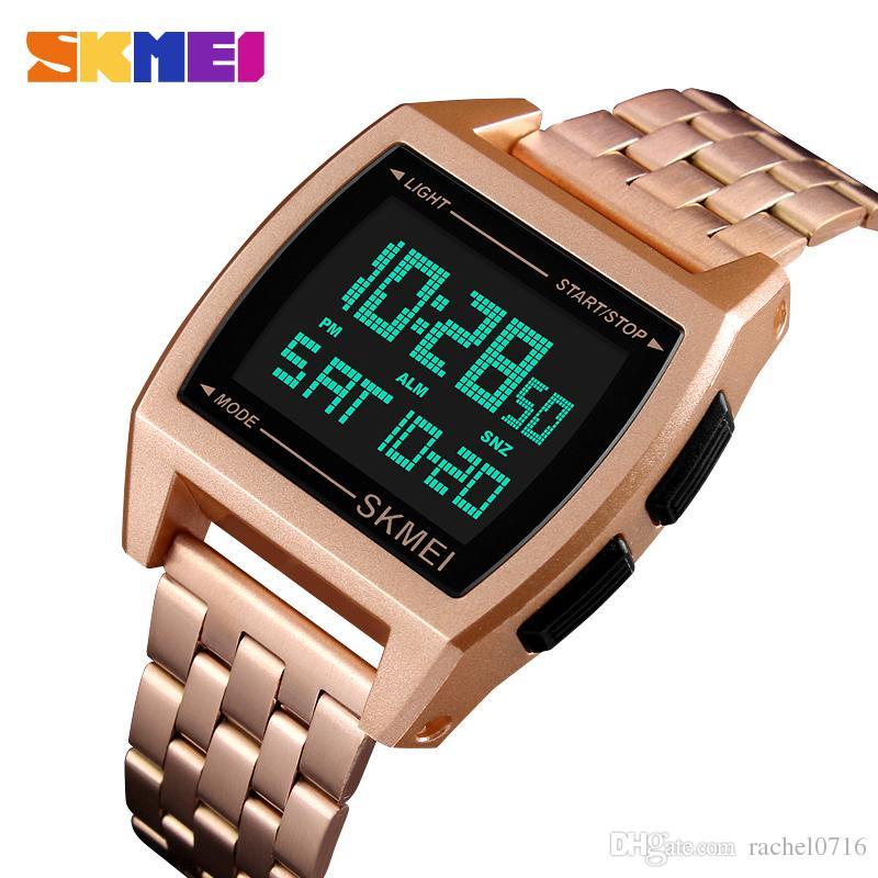 SKMEI Militar Relógios Desportivos LED Digital Relógio Eletrônico À Prova D 'Água Mens Relógios Top Marca de Luxo Relógio Masculino Relogio Masculino 1368