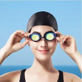 Original Xiaomi youpin Yunmai Swimming Goggles Set HD Anti-fog Nose Stump Earplugs Silicone Swimming Glasses Set 3010036Z3