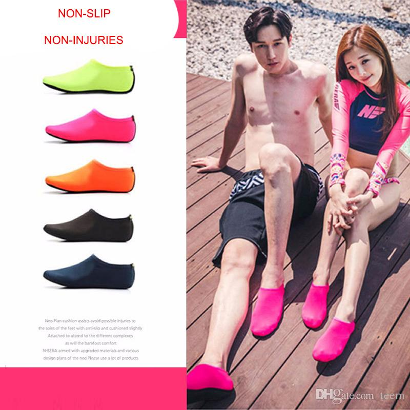 DHL Beach Water Sports Scuba Diving Socks 5 Colors Swimming Snorkeling Non-slip Seaside Beach Shoes Breathable Surfing Socks Sand Play
