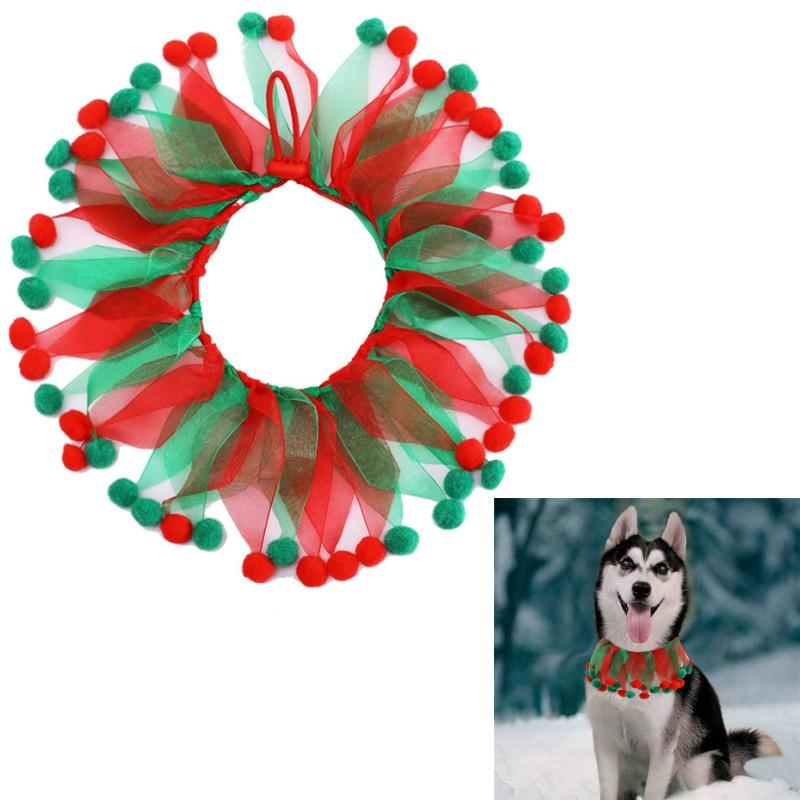 Materiali collare Pet Natale Arredamento Animale domestico del cucciolo del gatto del cane di Natale del collo governare Accessori Natale Capodanno Pet
