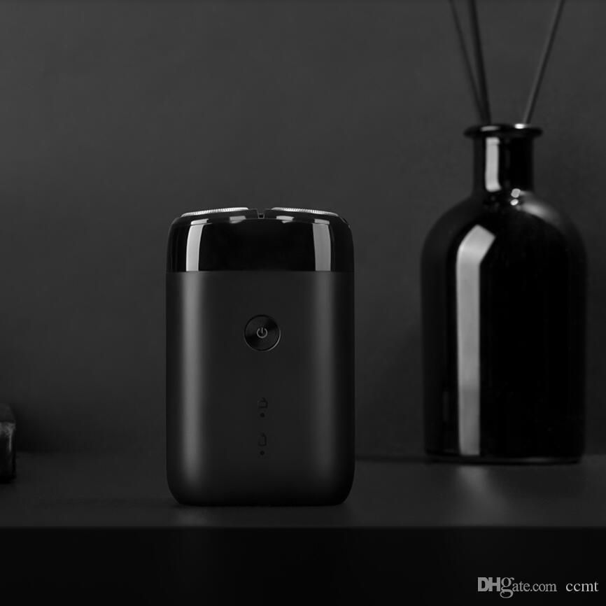 navaja de afeitar el bigote para bajar de acero para hombre recargable Xiaomi Mijia máquina de afeitar eléctrica 2 Cabeza flotante impermeable portable del USB navaja de afeitar
