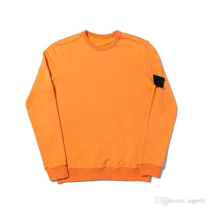 19SS Crewneck Sweatshirt T0PST0NE Uzun Kollu Hoodie Basit Katı Kazak Moda Kazak Süveter Spor M-2XL 4 Renkler