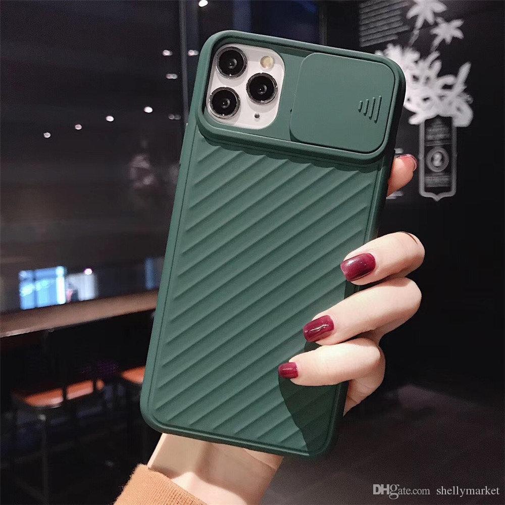 Para el caso del iphone 11 textura del gel de silicón TPU Excelente Flexibilidad resistente cubierta de la cámara parte móvil para el iphone caso 11Pro 6 7 8