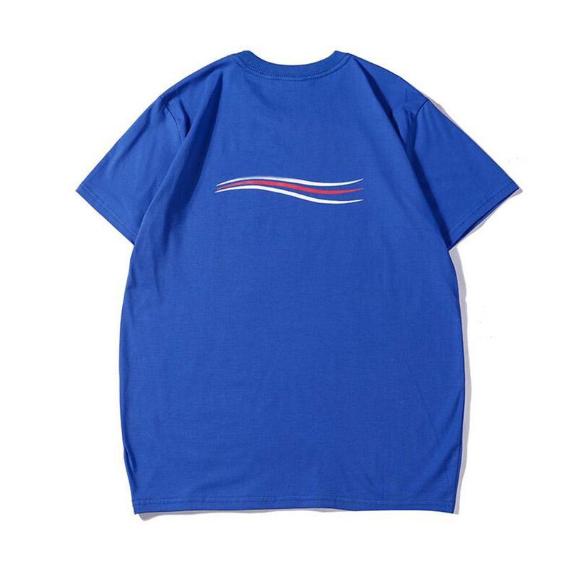 Shirt Nuovo T Moda per gli uomini della lettera casuale della stampa manica corta T superiori maglietta casuale formato S-2XL