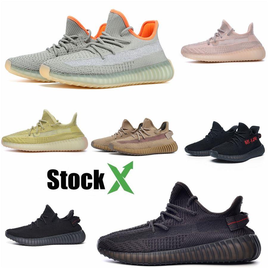 Kanye West V3 Alva Noir Phosphorescent Chaussures Designer Running Azeal Blanc Skeleton réfléchissant chaussures de sport pour le sport Formateurs # QA208