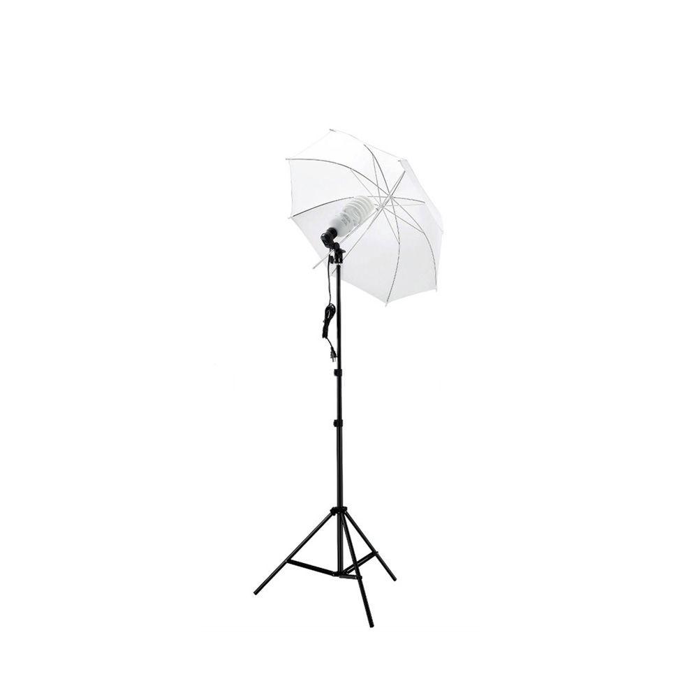 Photography Lighting Kit Photo Umbrella Kit Translucent Umbrella + 2m Light Stand + Light Bulb + Lamp Socket For Photo Studio Diffuser