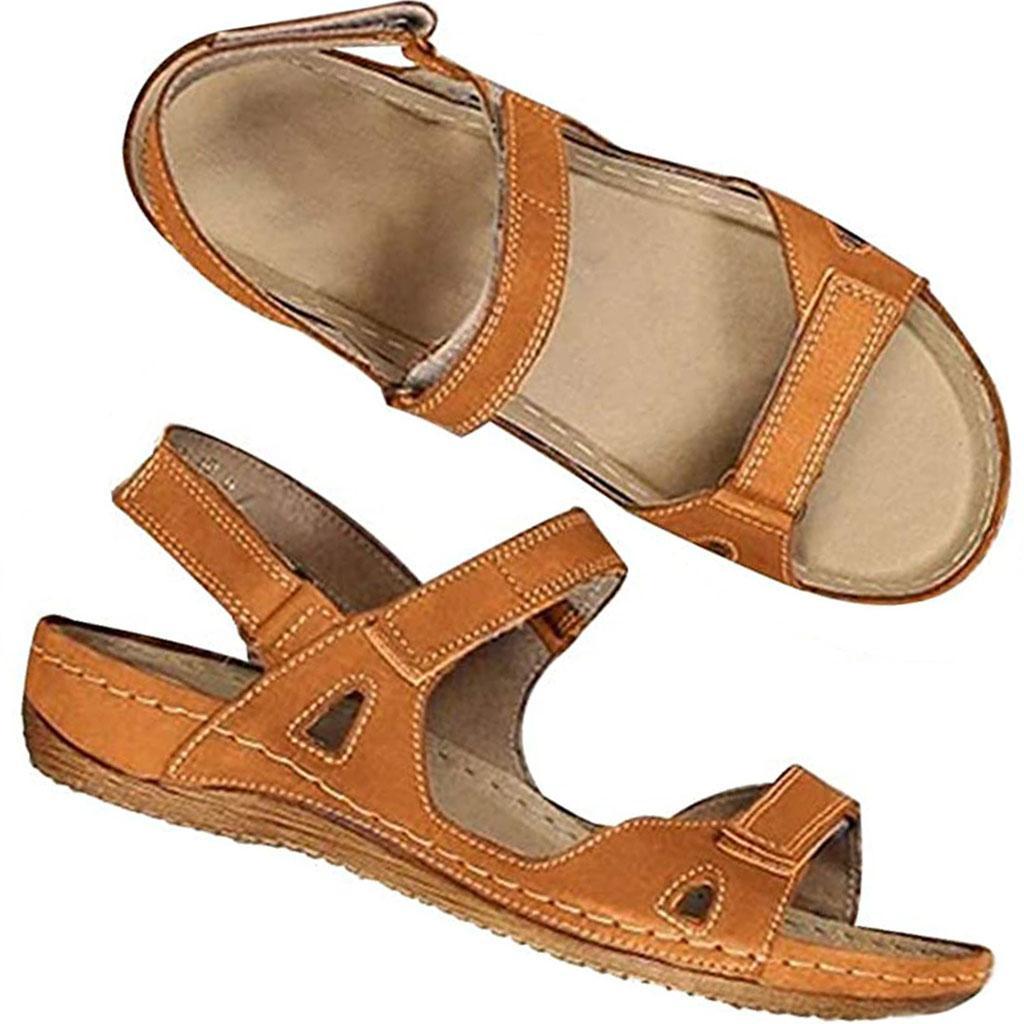 2020 Aberto à frente do Hot Mulheres sandlas Verão Bohemia Esporte Sandália Casual Plano Flip Flop premium confortáveis sapatos de caminhada Praia Outdoor 13