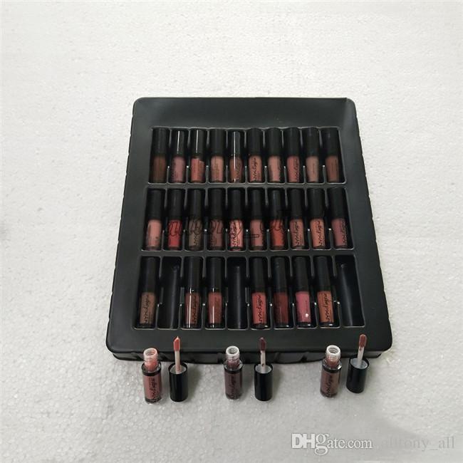 NYX SOFT MATTE LIP CREAM 36PCS Set Lipstick Lip Gloss Matte NYX Lingerie Vault Lip Makeup 36 colors set