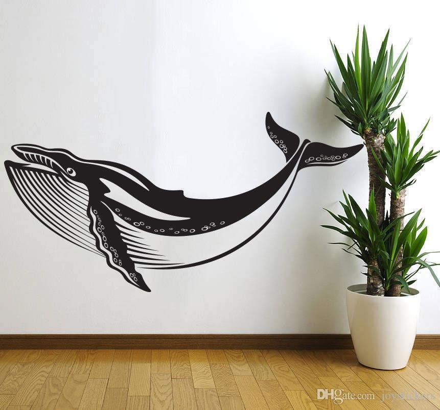Under The Sea Ocean Whale Nursery Wall Decal Art Decor Sticker Vinyl Kids Bedroom Wall Stickers Bathroom Home Decor