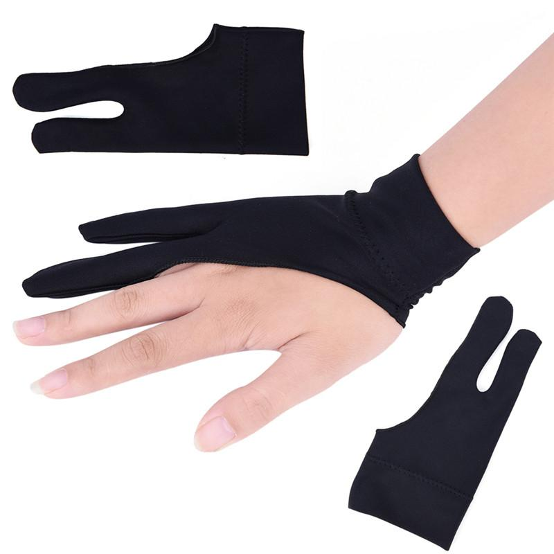 1 Piece Drawing Tablet Mitten Two Finger Drawing Glove Anti-fouling Glove