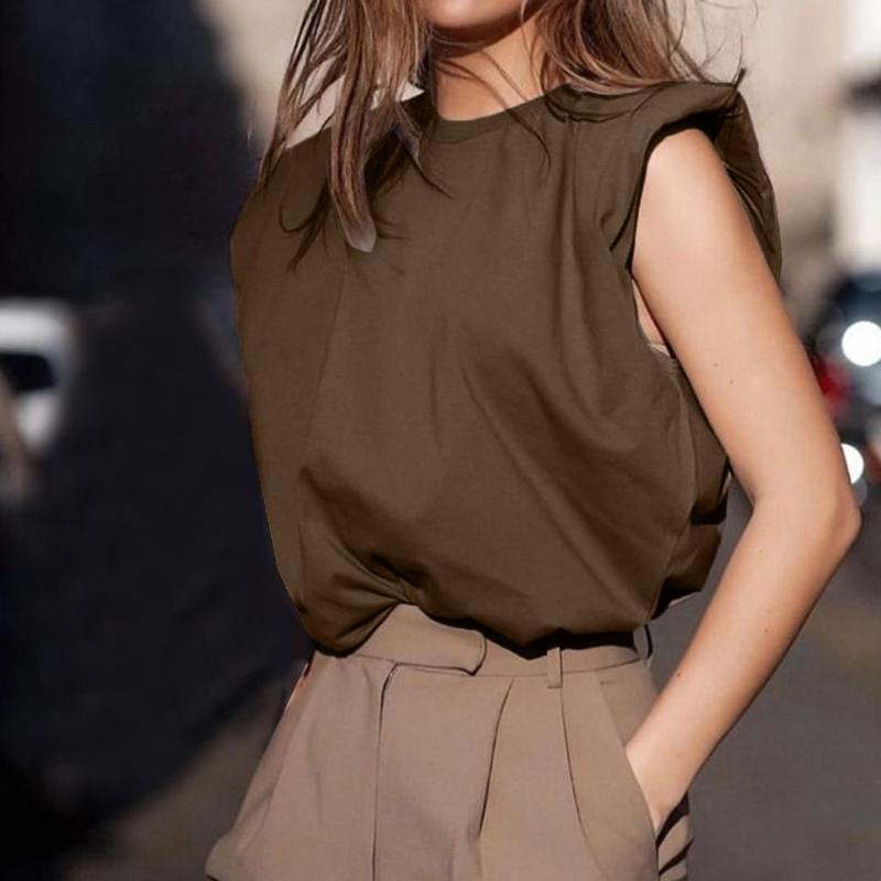 Summer Blouse Top Women Fashion Women's Casual Round Neck Elegant Shirt Loose Solid Color Short Sleeve Tops Ladies Clothes 2020