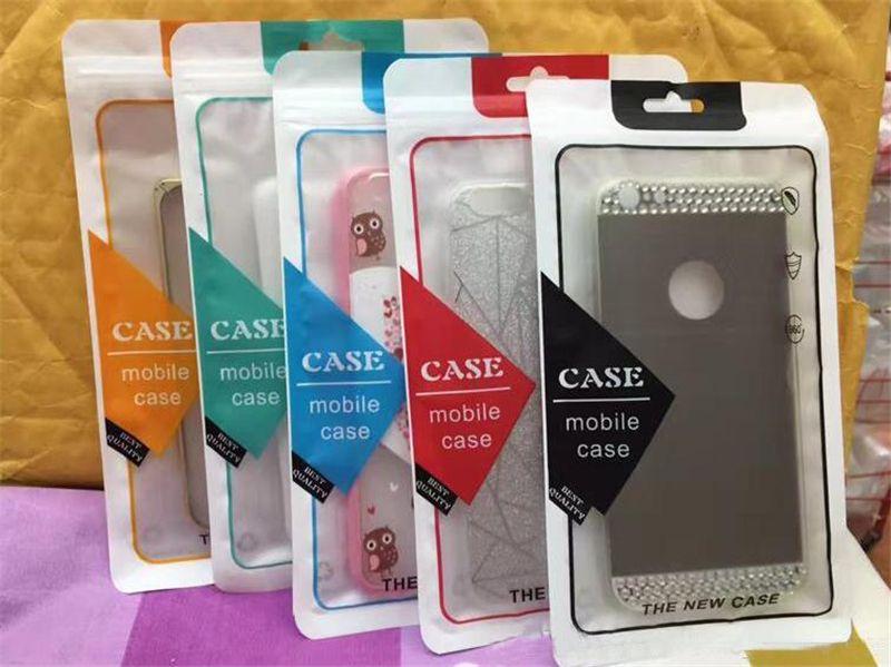 12 * 22 centímetros Phone Case Retail pacote pacotes caixas de plástico Zipper Retail OPP PVC embalagem Embalagem Sacos Para o caso de telefone 5,5 polegadas