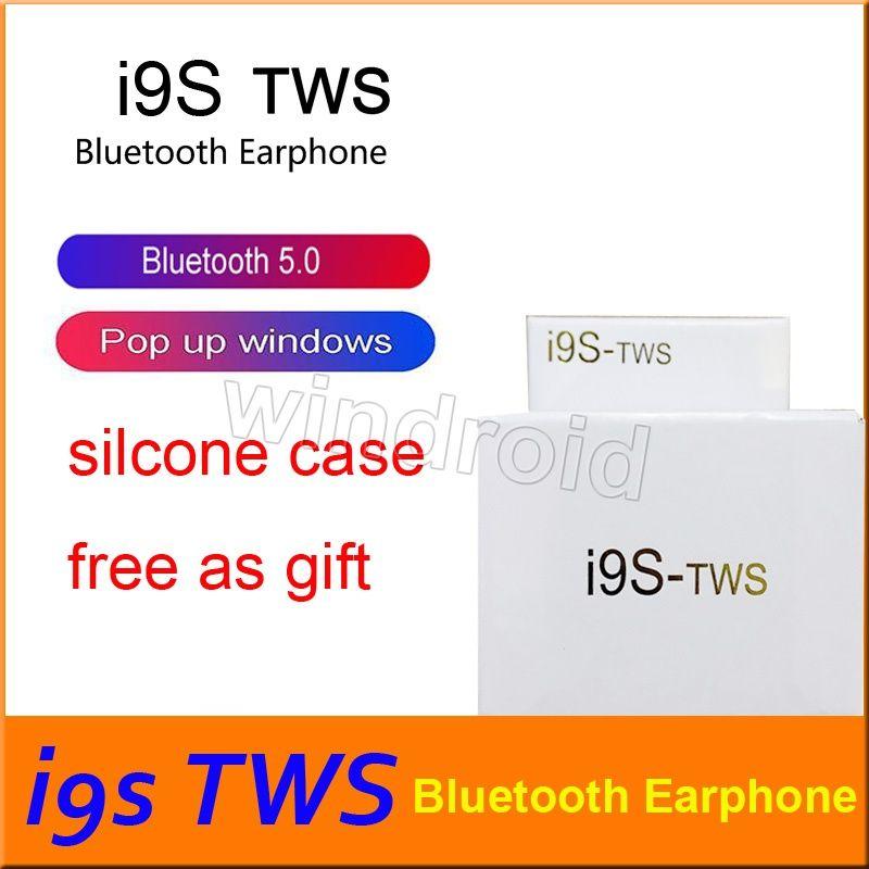 I9 I9S Tws pop-up pencere Ile Kulaklık Kulaklık Stereo TWS IOS Telefon için Kulakiçi Ile Şarj Kutusu Ile Kablosuz Bluetooth Kulaklık