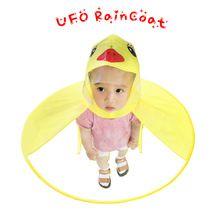 Kids UFO Raincoat Rain Cover Funny Yellow Duck Raincoat Umbrella Poncho Hands Free Rainwear Waterproof Rain Gear cny997