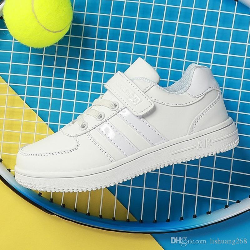 Chaussure Enfant infantil Ayakkabı tenis Koşu Kid Kaykay ayakkabıları erkek spor ayakkabıları PU Deri Kızlar Açık Spor Ayakkabı Çocuk