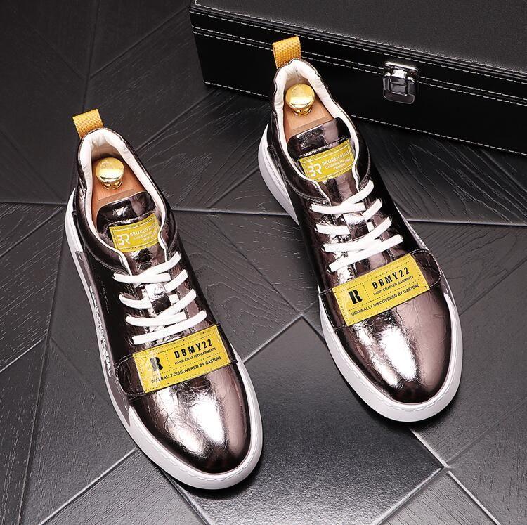 الموضة الجديدة الرائعة رجل Chaussures حذاء جميل منصة عارضة حذاء فاخر مصمم أحذية جلدية الألوان الصلبة اللباس أحذية D3