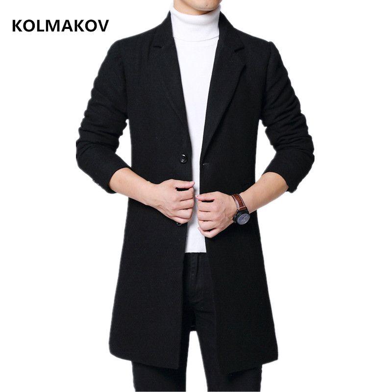 2020 Нового прибытия Мужского шерстяного пальто Классического шерстяная куртка Mans Горячая продажа Весна ветровки шерсть пальто Мужчина Slim Fit M-6XL