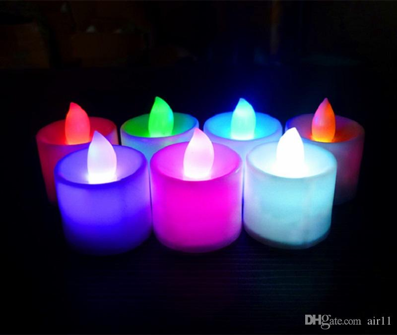 Parlak Beyaz Çay Işıkları Pil Kumandalı LED Kristal Çay Işıkları Titreşimsiz Alevsiz Düğün Doğum Günü Partisi Noel Dekorasyon 3.6x4.4 cm