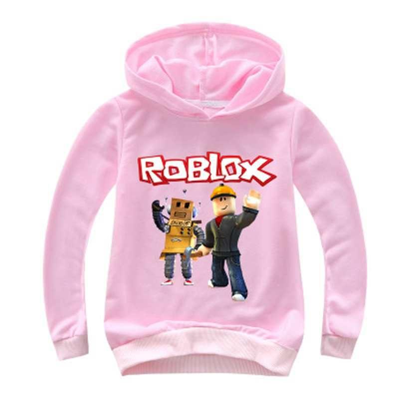 Hoodie Roblox Girl Outfits Codes 2 14y Kids Hoodies Roblox Hoodie Boys Sweatshirt Long Sleeve Girls
