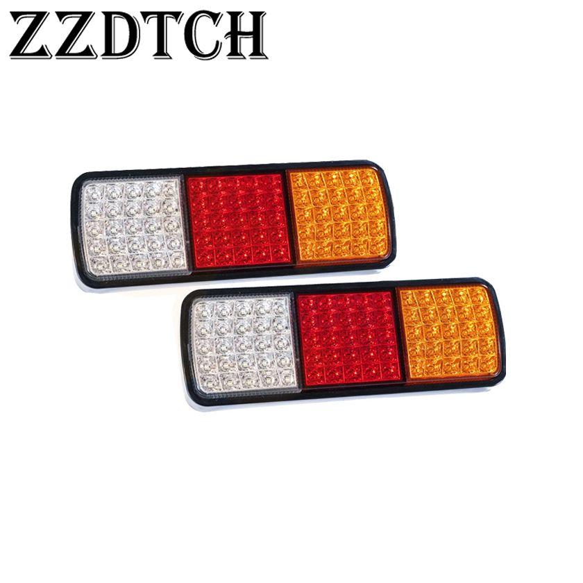ZZDTCH 2PCS 12V 75 LED della coda del camion della lampada Trailer Bus ADR