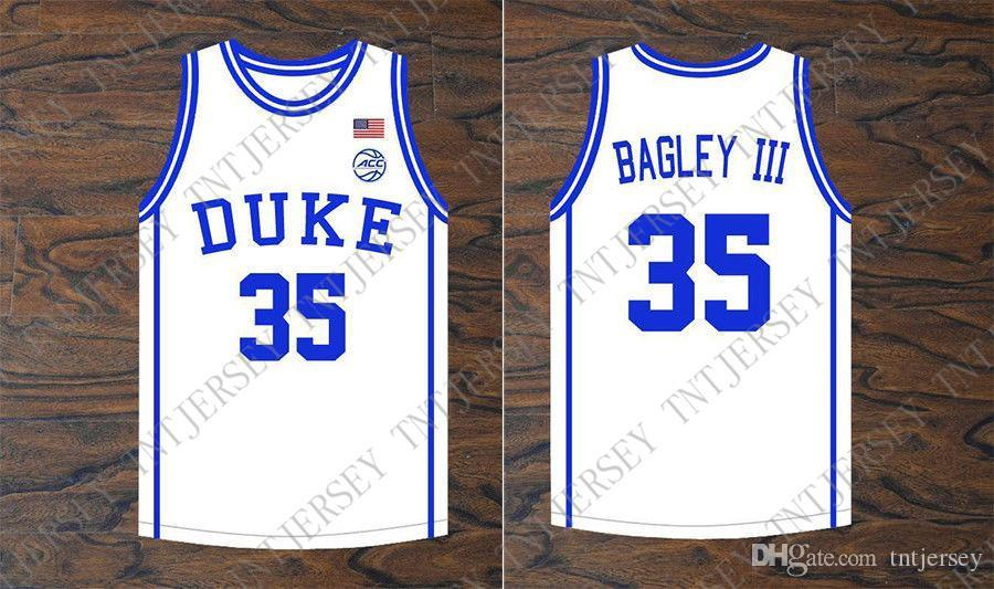 barato costume Marvin Bagley III # 35 Duke Blue Devils Basketball Branco Jersey costurado ponto personalizar qualquer nome número HOMENS MULHERES JOVENS XS-5XL