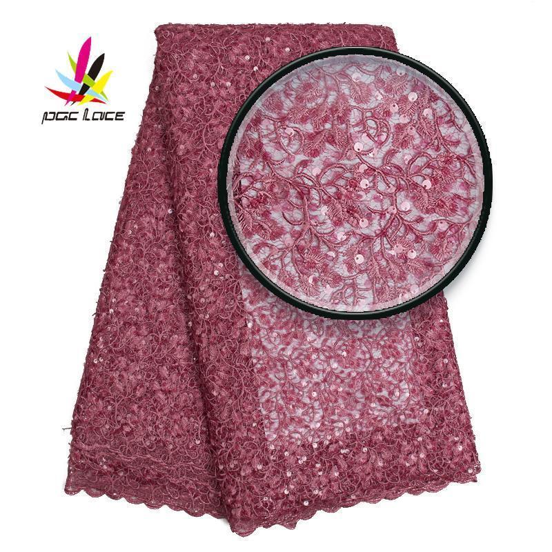 Últimas Africano líquidas bordados Lace tecido com lantejoulas 2019 Hot Venda de Alta Qualidade Francês Tulle Lace Fabric para o casamento AMY2536B