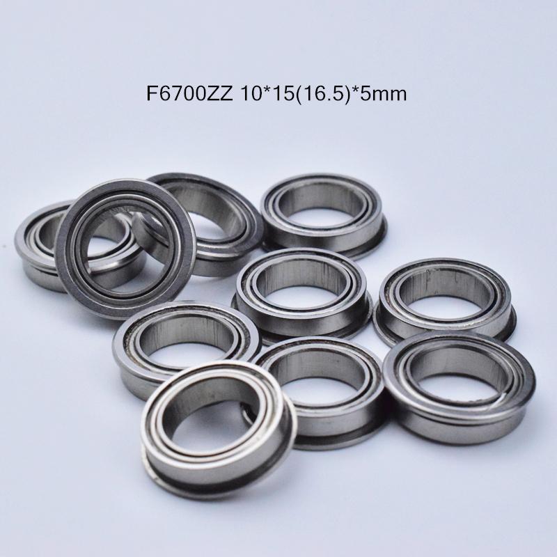 F6700ZZ 플랜지 베어링 무료 배송 6700 F6700Z의 F6700ZZ 10 * 1516.5 * 5mm 크롬 강철 깊은 홈 베어링