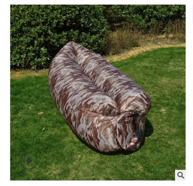 2020 Горячая распродажа наружная мебель портативный ленивый надувной диван открытый пляж на открытом воздухе воздушный диван-кровать камуфляж надувная кровать 260x70см домашний сад