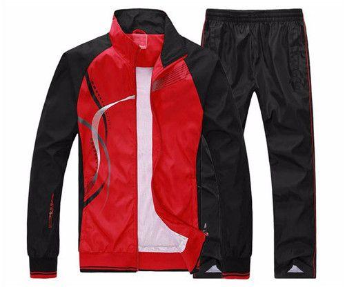 Erkekler Seti İlkbahar Sonbahar Erkekler Spor 2 Adet Set Spor Ceket + Pantolon Eşofman Erkek Giyim Eşofman Takımları