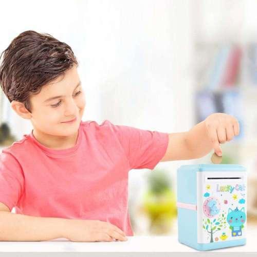 Çocuklar Oyuncak Otomatik Çocuklar Para Tasarrufu Kutusu Kumbara Güvenli Para Mevduat