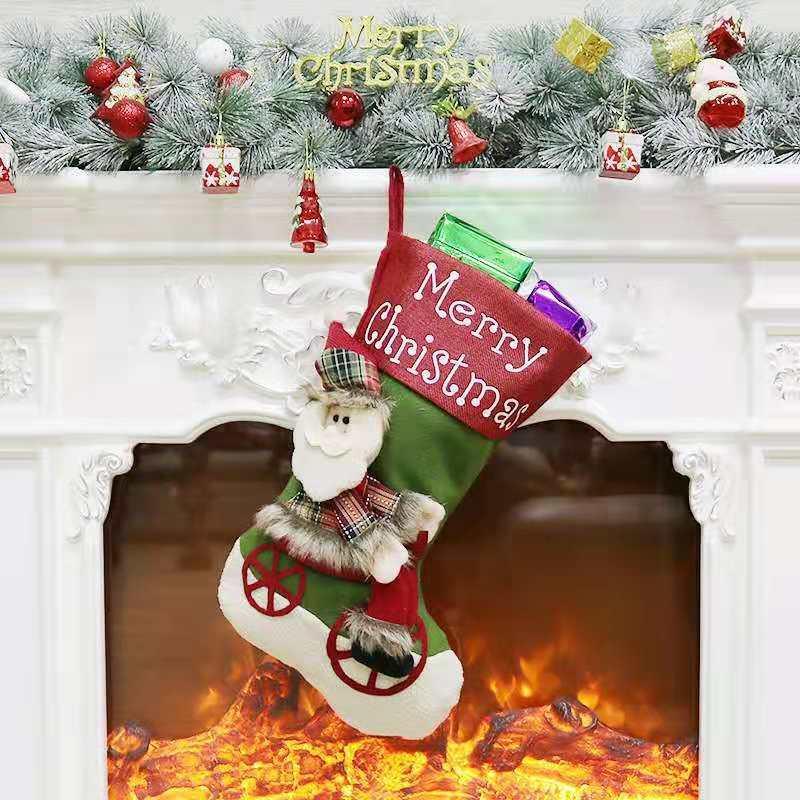 Ornamente Weihnachtssocken Süßigkeit Socken Geschenk 020