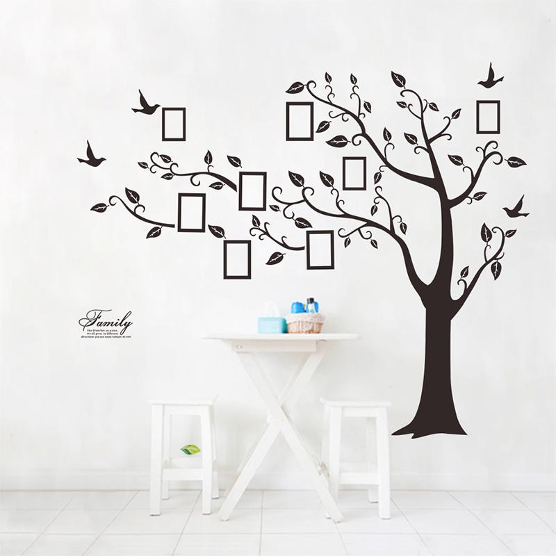 Large Family Photo Frame Tree Bird Quotes Wall Sticker Art Decals Big Tree For Photo Wall Stickers For Home Decor Wall Sticker Designs Wall Sticker For Kids From Pcharon 0 77 Dhgate Com