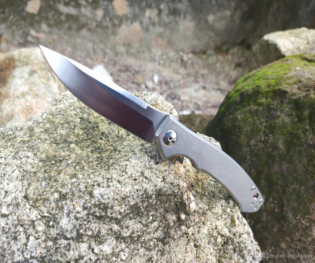 "Zero Tolerance 0450 Dmitry Sinkevich Flipper 3.25 ""S35VN Lama in raso, titanio"