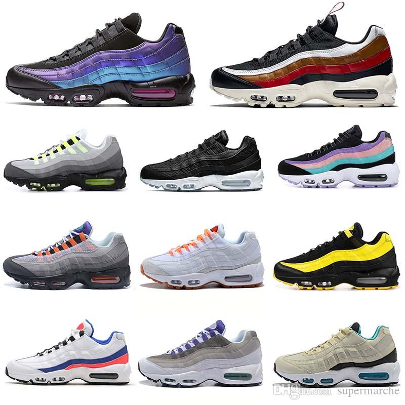 2019 Throwback Future Max 95 Black red Running Shoes Men Women Frequency Pack Patch OG Neon Have a Day Designer Mens Sport Trainer