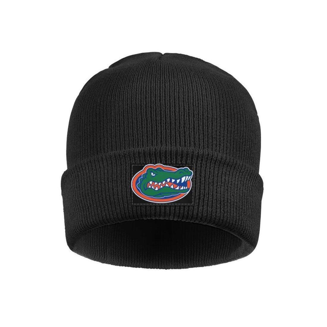Mens Mujeres Florida Gators logotipo de fútbol caliente de las lanas del casquillo del invierno que hacen punto gorrita tejida blanca redonda del logotipo de camuflaje