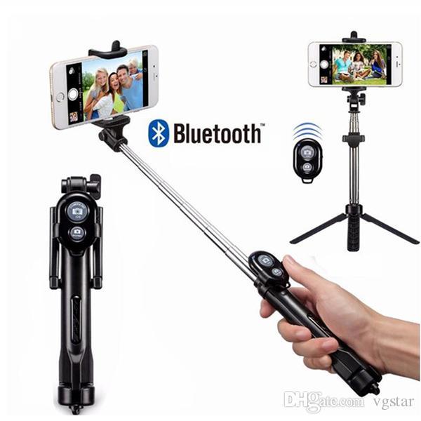 Tripod Monopod Selfie Stick Bluetooth مع زر Selfie Stick لنظام التشغيل Android ل Lone 6 7 8 Plus OS