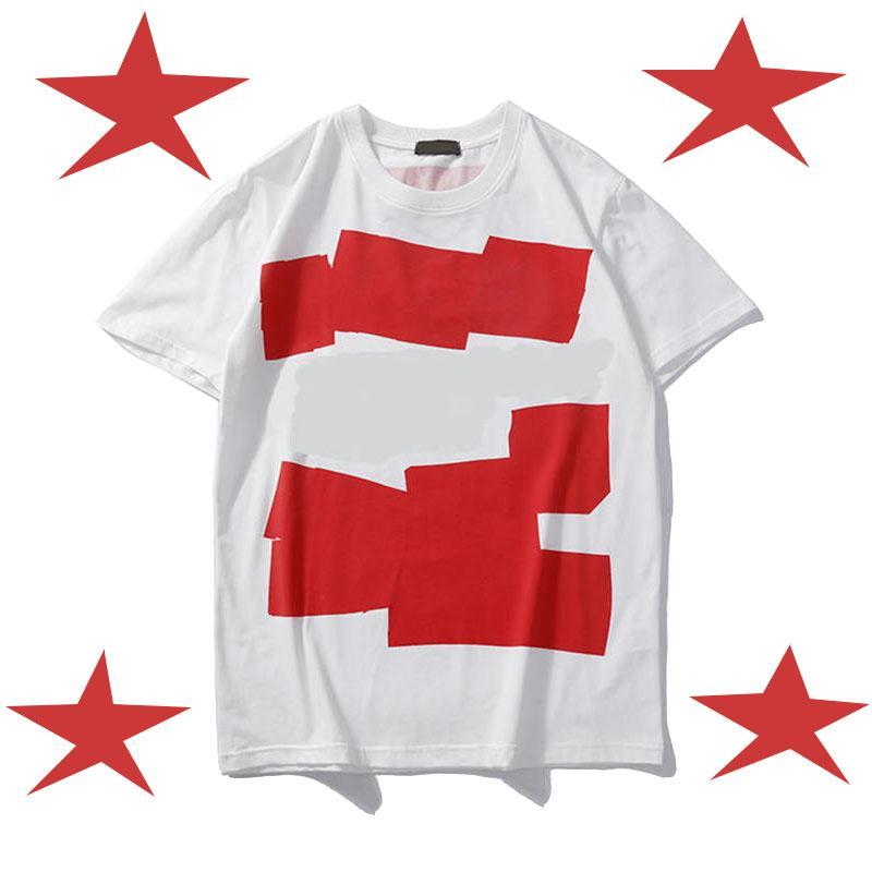 Мужская рубашка Summer Tops повседневные футболки для мужчин Женщины с коротким рукавом рубашки Одежда Письмо с печатным рисунком Tees Crew Neck XY1851701