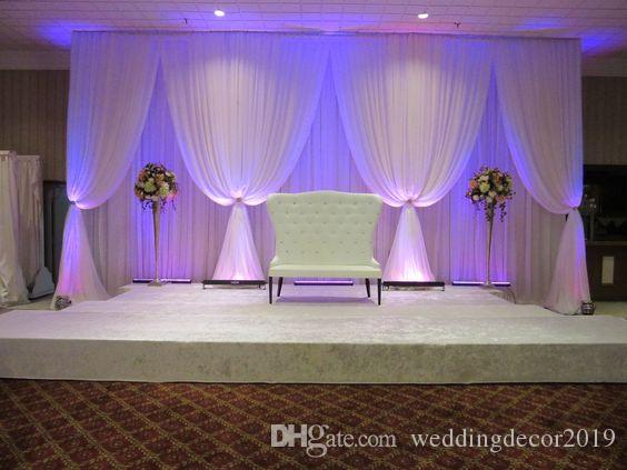 White wedding backdrop 3M height by 6M Width Wedding stage decoration 73