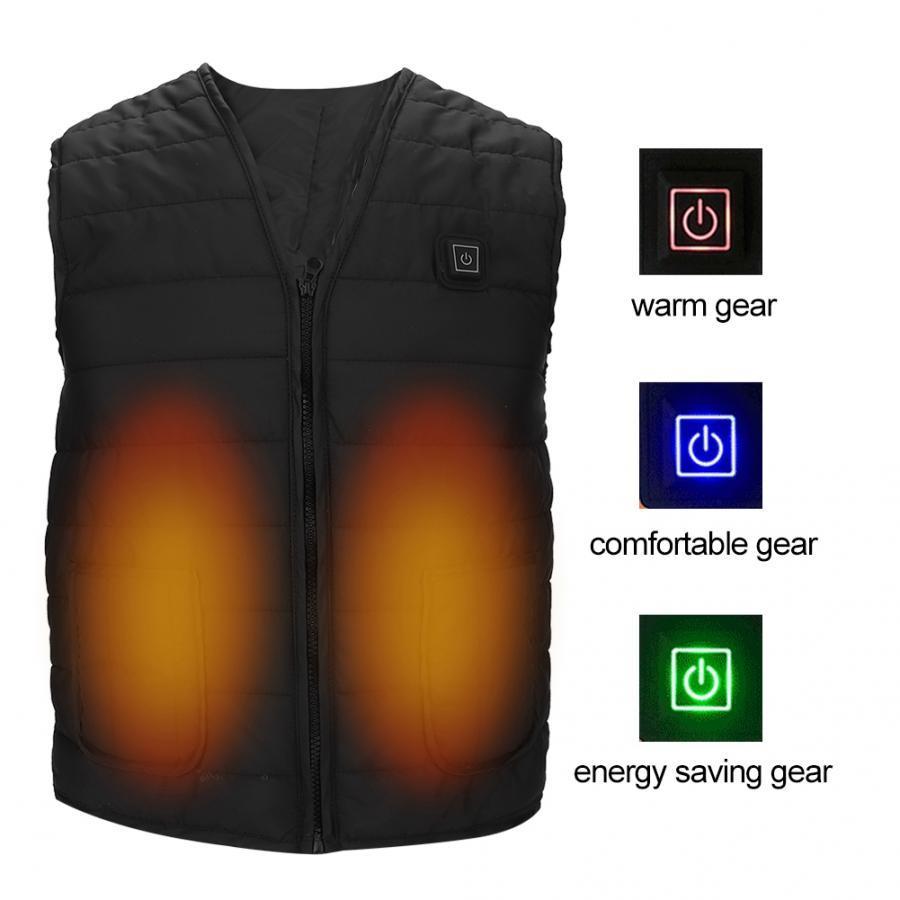 Elektrik Kızılötesi Heateding yelek erkekler Kadınlar Isıtma Yelek Termal Sıcak Giyim USB Isıtmalı Açık Yelek Kış Isıtmalı Ceket