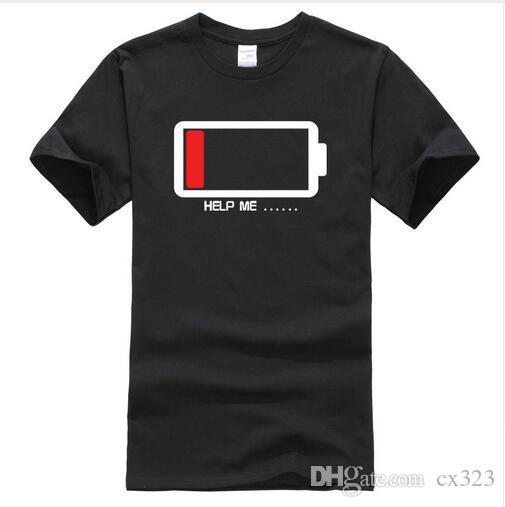 Yaz 2019 T-shirt Piller Bana Yardım et komik t shirt% 100% pamuk yüksek kaliteli erkek T-Shirt harajuku spor t gömlek erke ...