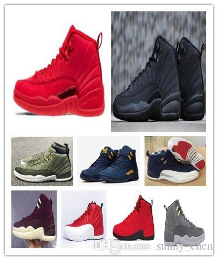 Kutu ile 12 WNTR Winterized basketbol ayakkabıları 12 s Xii Spor Salonu kırmızı Michigan Class 2003 PRM Spor Sneakers erkek boyutu 40-47 Ücretsiz Shippment