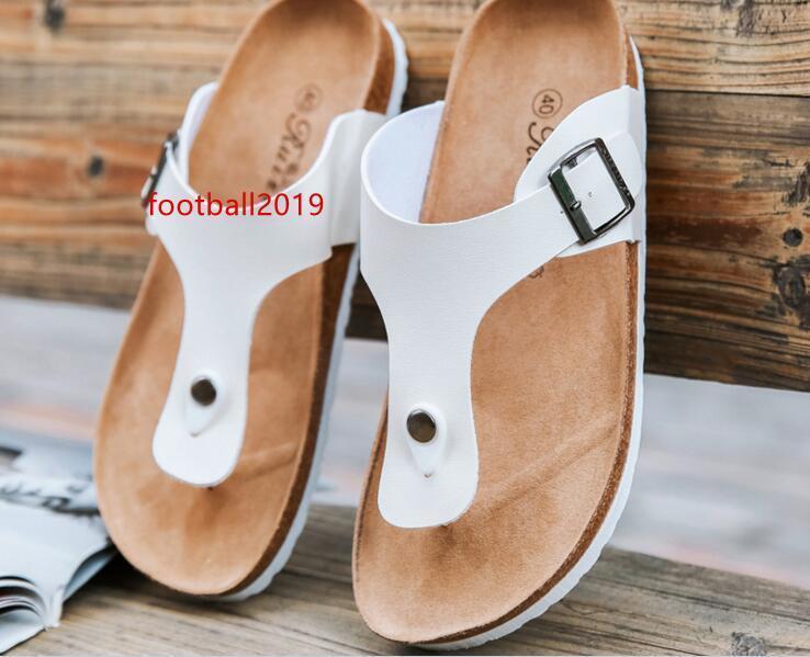 Hommes Femmes Chaussures Sandales Chaussons Summer Lady Flats Sandales Cork Chaussons Chaussures Casual Couleurs mixtes Couleurs mixtes plage diapositives plus Taille 39-44