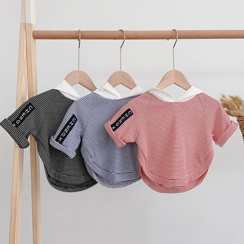 Fashion Striped T Shirt for Boys 2019 New Kids Boys Hooded Sweatshirt Clothes Children's Pullovers Top Tees Baby Girl T Shirts T191014